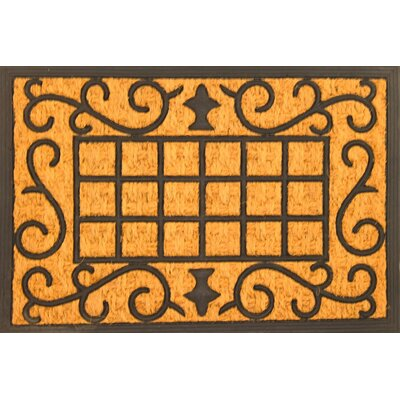 Scroll Coir (Coco) Rubber Doormat