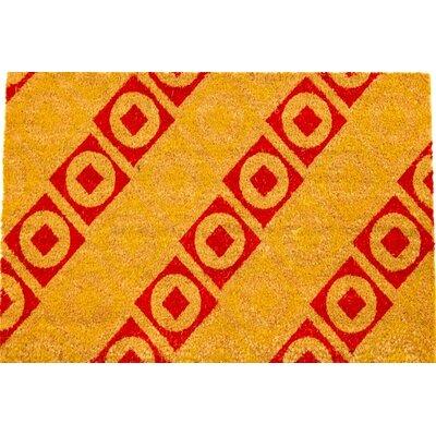 Squares & Circles Modern Art Coir (Coco) Doormat