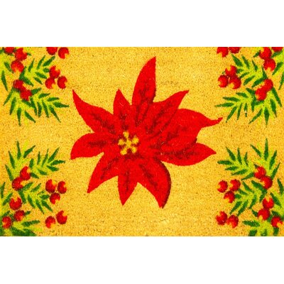 Winter Amaryllis and Berries Coir (Coco) Doormat
