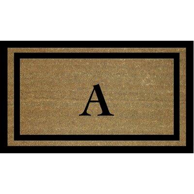 Text Doormat Letter: A