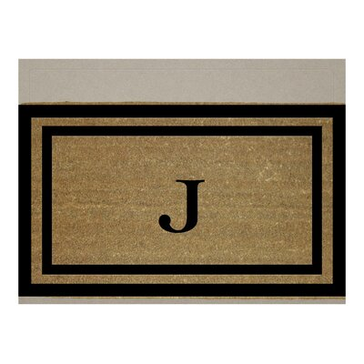 Text Doormat Letter: J