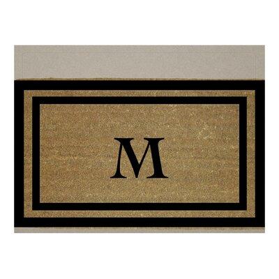 Text Doormat Letter: M