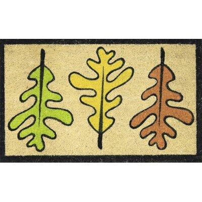 Les Trois Feuilles Coir (Coco) Doormat
