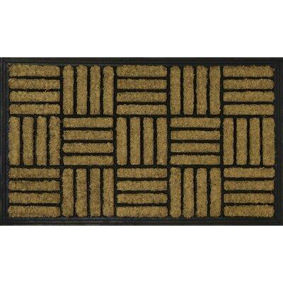 Criss Cross Coir (Coco) Rubber Doormat