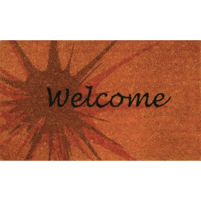 Splash Coir (Coco) Welcome Doormat Color: Tango