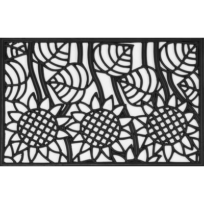 Sunflowers Wrought Iron Rubber Doormat