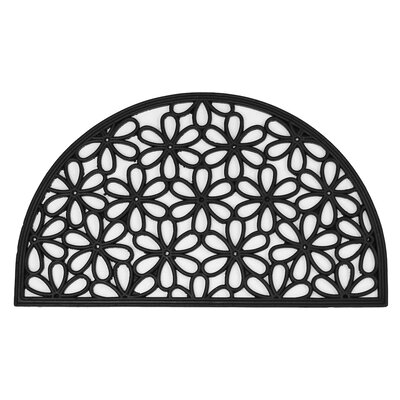 Half Round Daisy Wrought Iron Doormat