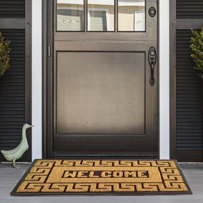 Meandros Coir (Coco) Rubber Welcome Doormat