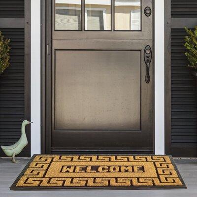Meandros Coir (Coco) Rubber Welcome Doormat