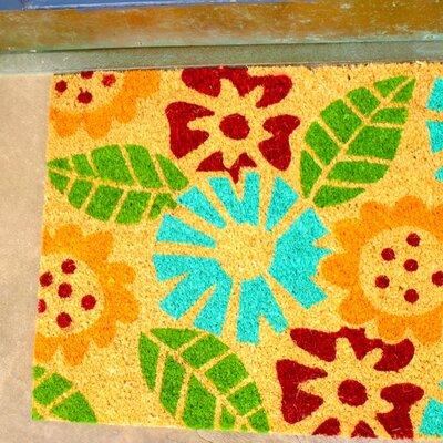 Floral Coir (Coco) Doormat