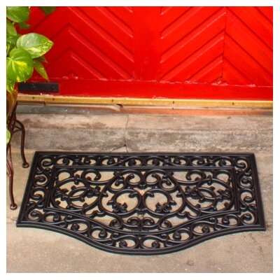 Scroll Wrought Iron Rubber Welcome Doormat