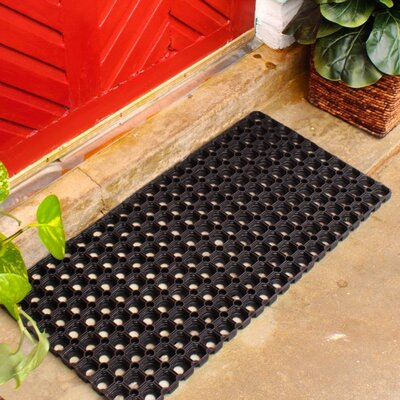 Hollow Rubber Doormat Mat Size: Rectangle 14 x 28