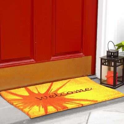 Splash Coir (Coco) Welcome Doormat Color: Lemon