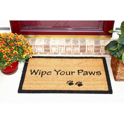 Wipe Your Paws Coir (Coco) Doormat