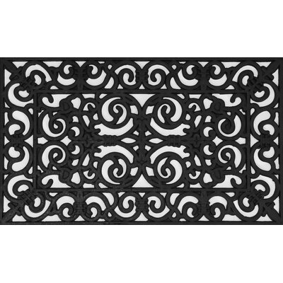 Burg Fleur de Lis Wrought Iron Rubber Pins Doormat