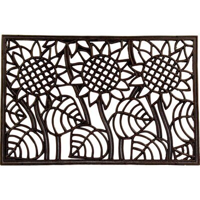 Sunflowers Wrought Iron Rubber Doormat