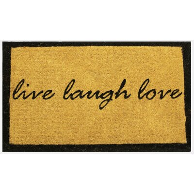Estella Live Laugh Love Coco Coir Doormat