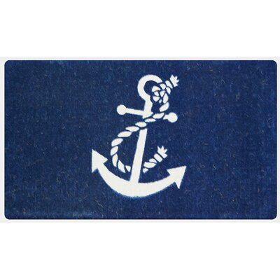 Everly Nautical Anchor Coco Coir Welcome Doormat