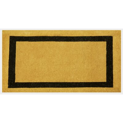 Lafond Border Coco Coir Welcome Doormat Rug Size: 16 x 26