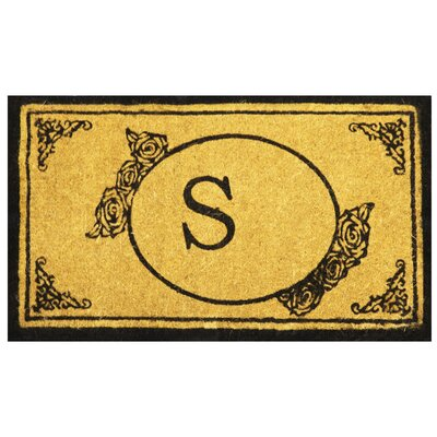 Lamarche Welcome Coco Coir Monogram Letter S Outdoor Doormat Rug Size: 16 x 26