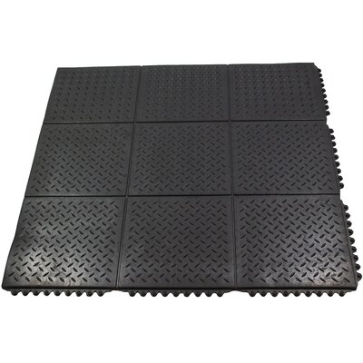 Checker Top Interlocking Solid Utility Mat