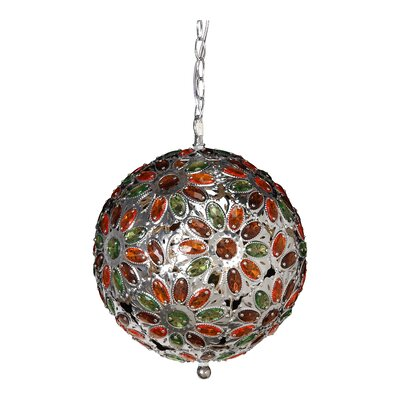 Dynamic 1-Light Globe Pendant Shade Color: Amber/Lime