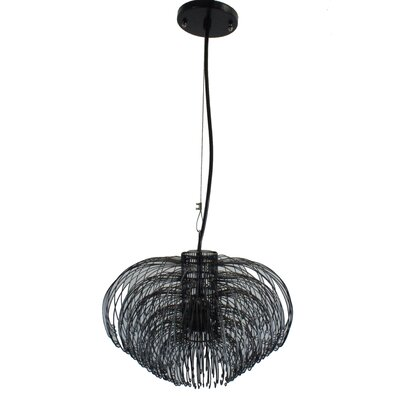 Lotus 1-Light Inverted Pendant