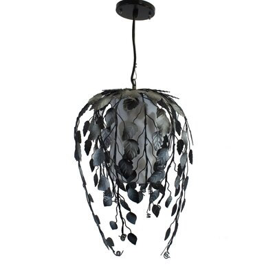 Indian Summer 1-Light Pendant Color: Black/Silver