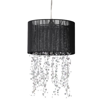 1-Light Drum Pendant Shade Color: Black
