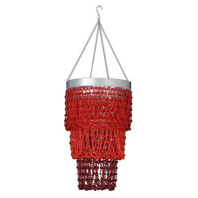 Medusa 1-Light Crystal Pendant Shade Color: Red