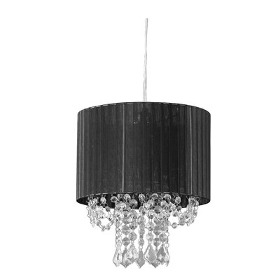 Salena 1-Light Drum Pendant Shade Color: Black
