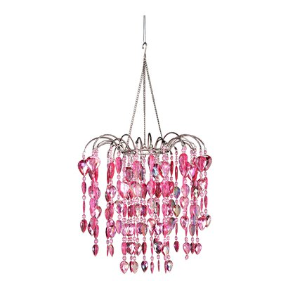 Chatteris 1-Light Crystal Pendant Color: Pink
