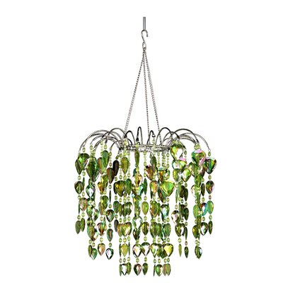 Chatteris 1-Light Crystal Pendant Color: Lime