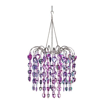 Fountain 1-Light Crystal Pendant Color: Purple