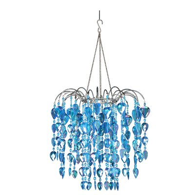 Fountain 1-Light Crystal Pendant Color: Blue