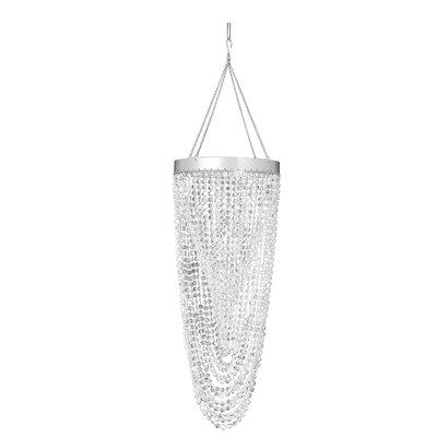 Double Twist 1-Light Crystal Pendant Color: Crystal