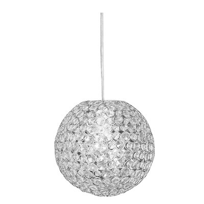 Sparkling 1-Light Globe Pendant