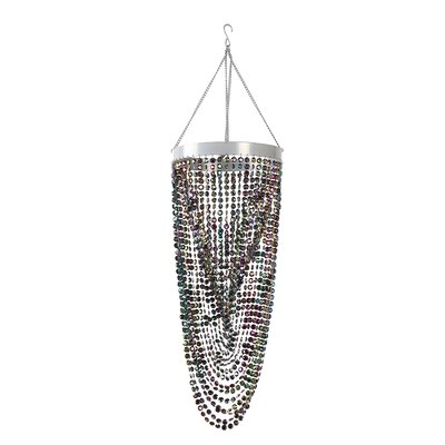 Double Twist 1-Light Crystal Pendant Color: Black