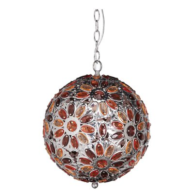 Dynamic 1-Light Globe Pendant Shade Color: Paprika