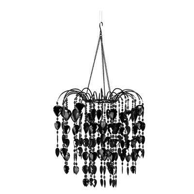 Fountain 1-Light Crystal Pendant Color: Black