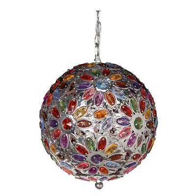 Dynamic 1-Light Globe Pendant Shade Color: Multi Color