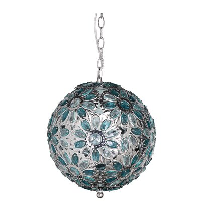 Dynamic 1-Light Globe Pendant Shade Color: Morning Mist