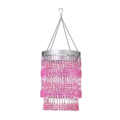 Bohemian 1-Light Crystal Pendant Shade Color: Pink