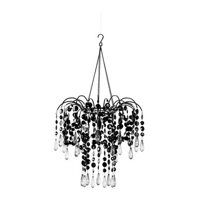 Jewel Case 1-Light Crystal Pendant Color: Black