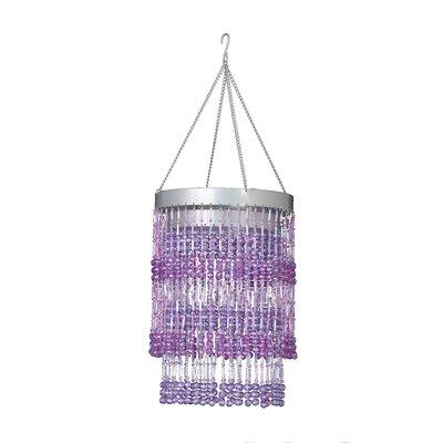 Bohemian 1-Light Crystal Pendant Shade Color: Purple