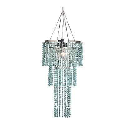 Triple Tier 1-Light Crystal Pendant Shade Color: Mint Green