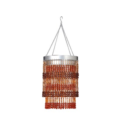 Jena 1-Light Crystal Pendant Shade Color: Brown