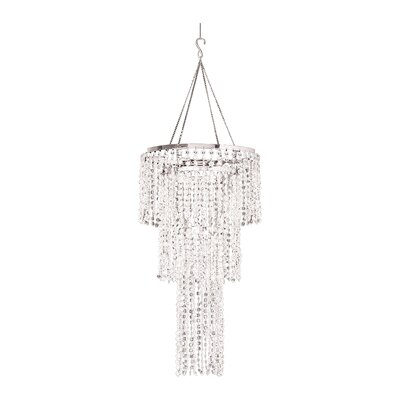 Felicia Triple Tier 1-Light Crystal Pendant Shade Color: Crystal