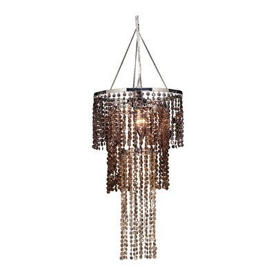 Felicia Triple Tier 1-Light Crystal Pendant Shade Color: Chestnut Brown