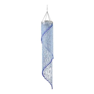 Spiriling Dream 1-Light Mini Pendant Shade Color: Blue/Lime